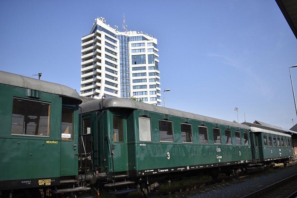 Jízdy historických vlaků na olomouckém hlavním nádraží - 12. 6. 2021