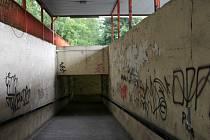 Podchod pod Brněnskou ulicí v Olomouci u fakultní nemocnice