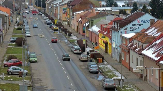 Ulice Střední Novosadská v Olomouci. Ilustrační foto