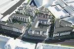 Vizualizace projektu Zlaté terasy v areálu bývalých mrazíren u Wolkerovy ulice v Olomouci