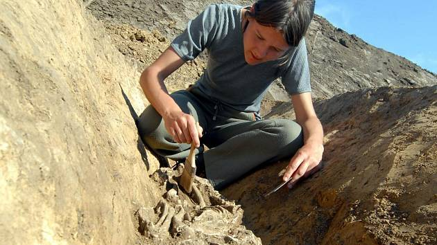 V příkopu pochodového tábora byla nalezena nejen kostra psa, který na Hanou možná potkal římské legionáře, ale i římskoprovinciální keramika.