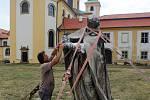Restaurování Baziliky Navštívení Panny Marie na Svatém Kopečku. Červenec 2019