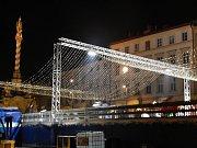 Bruslení na kluzišti na Dolním náměstí v Olomouci  - 11. 11. 2018