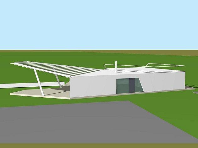 Vizualizace letiště v Neředíně, sociální zázemí a bufet