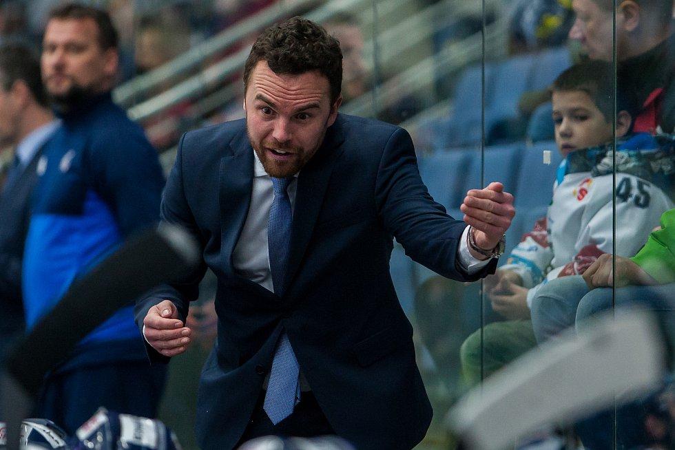 Bílí Tygři Liberec proti HC Olomouc. Trenér Filip Pešán.