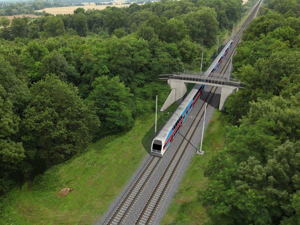 Vizualizace přestavby Železniční stanice Olomouc - Součástí rekonstrukce železniční stanice jsou i opravy mostů. Vizualizace ukazuje silniční nadjezd v Černovíře