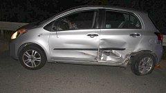 Srážka opilého řidiče octavie s toyotou mezi Bukovany a Velkou Bystřicí