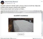 O téměř padesátihodinové odstávce informoval provozovatel kluziště, o.p.s Kulturní Olomouc, na své facebookové stránce