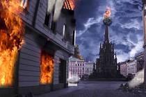 Olomouc v troskách - z videa Jonáše Bláhy