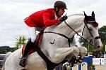 Josef Kincl a Cascar. Světový pohár v jezdeckém areálu Equine Sport Centre v Olomouci