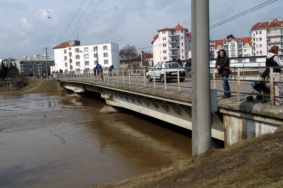 30. března 2006. Olomouc - Nové Sady, most u kojeneckého ústavu