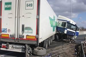 Nehoda zablokovala dálnici D46 z Prostějova na Olomouc