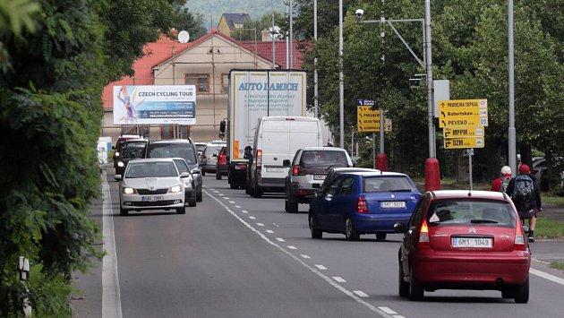Radar na příjezdu do Šternberka od Olomouce