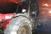 Požár seníku v Újezdu u Uničova