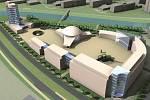 Minulost: původní návrh podoby kampusu a inovačního centra u třídy Kosmonautů, jak byl prezentován v roce 2010