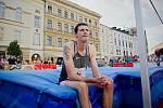 Jaroslav Bába. 13. ročník Hanácké laťky na Horním náměstí v Olomouci