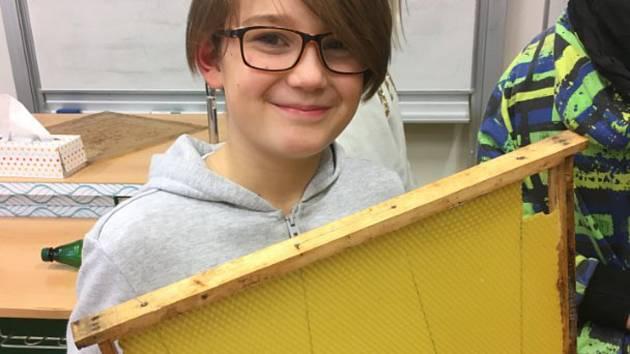Včelařský výuka na ZŠ Svatoplukova v Olomouci