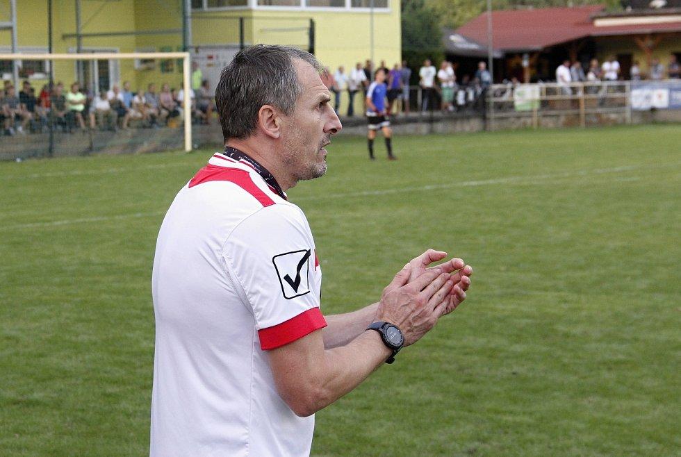 Trenér HFK Olomouc Jiří Derco.