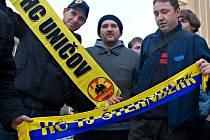 Ilustrační foto. Příznivci šternberského hokeje přišli podpořit jednání o osudu tamního zimního stadionu.