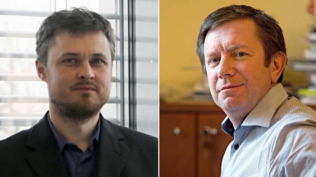 Děkan Přírodovědecké fakulty UP Martin Kubala (vlevo) a rektor Univezity Palackého Jaroslav Miller