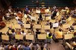 Moravská filharmonie Olomouc při nahrávání. Ilustrační foto