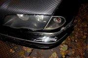Nehoda mladé ženy za volantem BMW v Kaštanově ulici v Olomouci