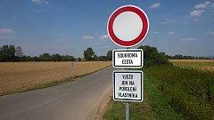 Alternativní trasa z Olomouce do Přerova  přes Nový Dvůr se uzavřela