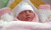 Emily Havlíková, Lanškroun, narozena 19. dubna v Olomouci, míra 49 cm, váha 2400 g