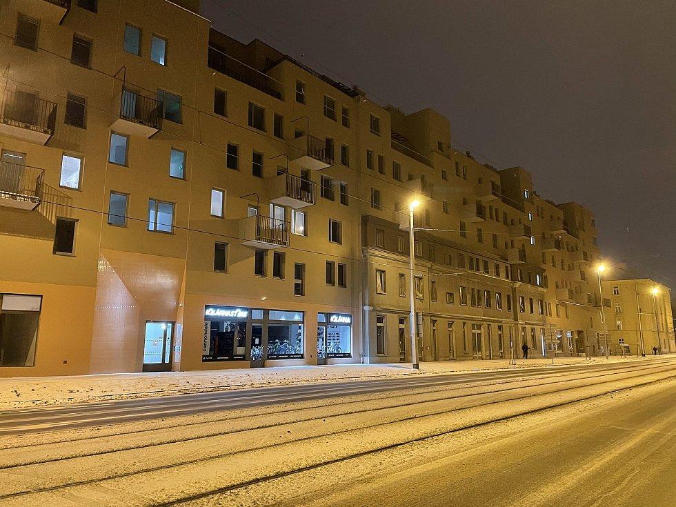 Třída 17. listopadu v Olomouci, únor 2021