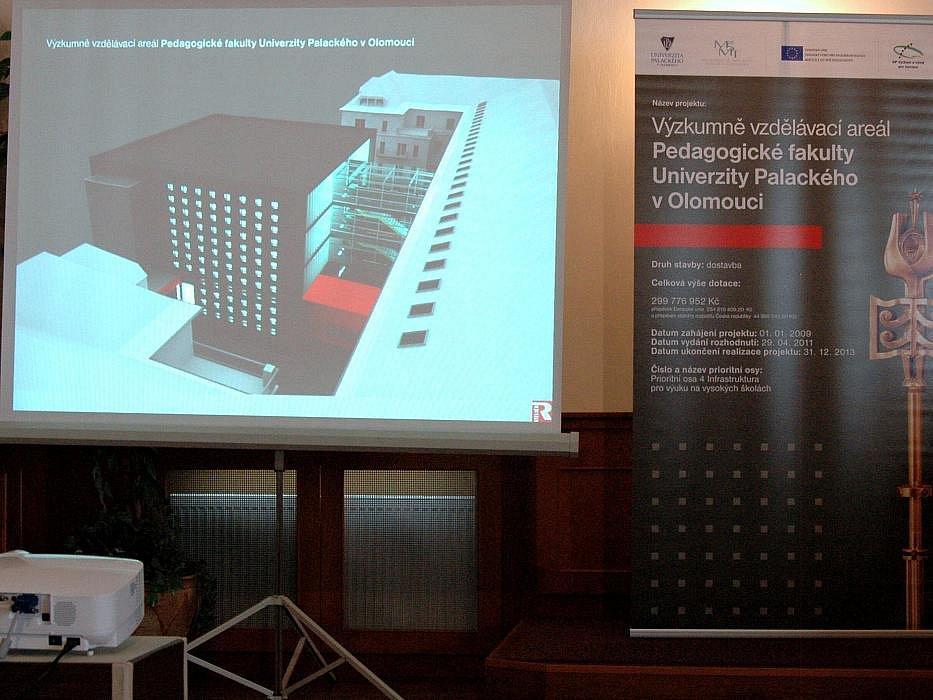 Slavnostní položení základního kamene budovy Výzkumně vzdělávacího areálu Pedagogické fakulty Univerzity Palackého v Olomouci.