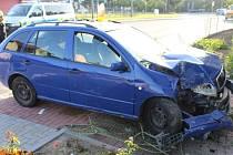 Nehoda opilého řidiče v Žerotíně