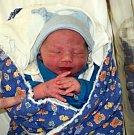 Mikuláš Jaroš, Litovel, narozen 28. března ve Šternberku, míra 51 cm, váha 3520 g