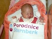 Nela Hegrová, Mohelnice, narozena 2. ledna ve Šternberku, míra 50 cm, váha 3480 g