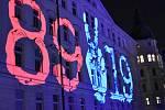 oslavy Sametové revoluce v Olomouci: videomapping na Palachově náměstí, 17.11.2019