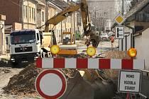 Opravy silnic v Náměšti na Hané