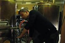 Sládek restaurace a pivovaru Moritz v Olomouci Stanislav Nožka.