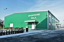 Senice na Hané. Sportovní hala u velké školy