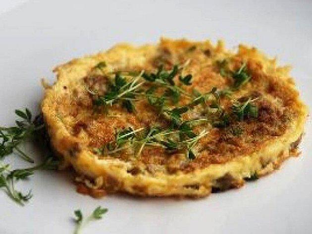 Žampionová omeleta