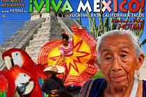Plakát k diashow Kateřiny a Miloše Motani Viva Mexiko