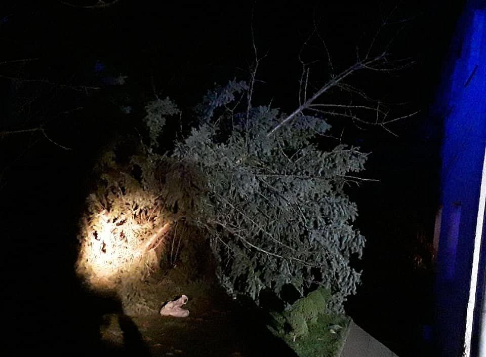 Řádění silného větru v Olomouckém kraji v noci na sobotu 5. prosince
