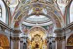 Opravený interiér baziliky na Svatém Kopečku