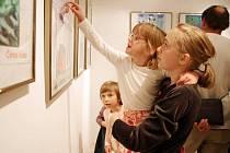 Vernisáž kreseb dětí z dětských domovů ve foyer Moravského divadla