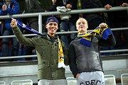 Fanoušci Zlína před zápasem s Kodaní na Andrově stadionu v Olomouci