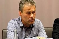 Pavel Hapal na tiskovce iniciativy Spojme síly pro Sigmu