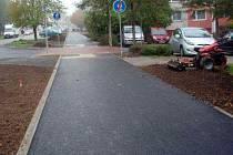 Nová stezka v Jílové ulici v Olomouci