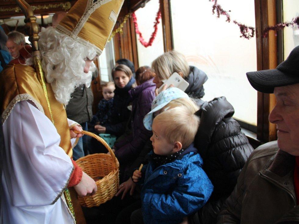 Mikulášská jízda tramvají Olomoucí