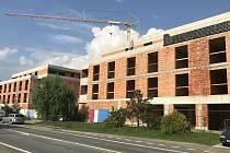 Olomouc - developerská výstavba v ulici Střední Novosadská. Srpen 2020