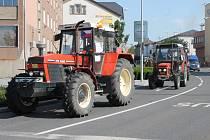 Protest zemědělců v Olomouci