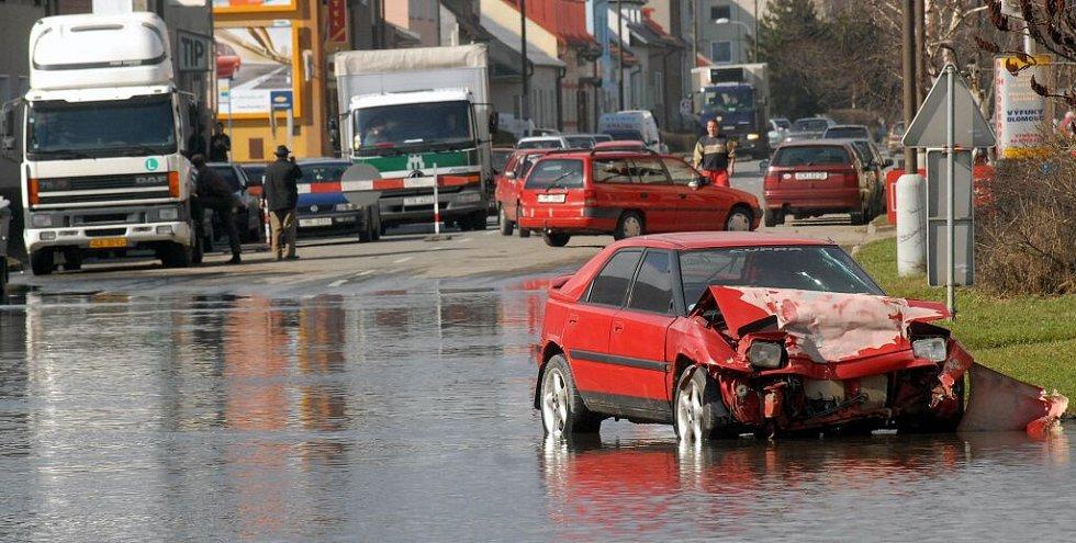 Zato v Olomouci v Dolní Novosadské stále vládl vodní živel