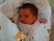 Izabela Vacová, Olomouc, narozena 16. února, míra 49 cm, váha 3010 g
